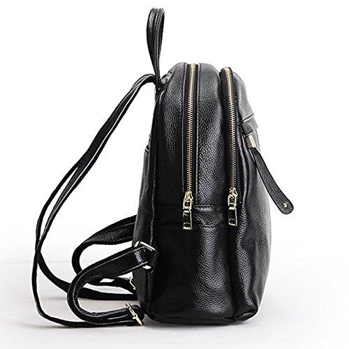 Sac Sac 15825 femme portés cuir Noir Valin LF dos fashion à main en g1ynWaqc