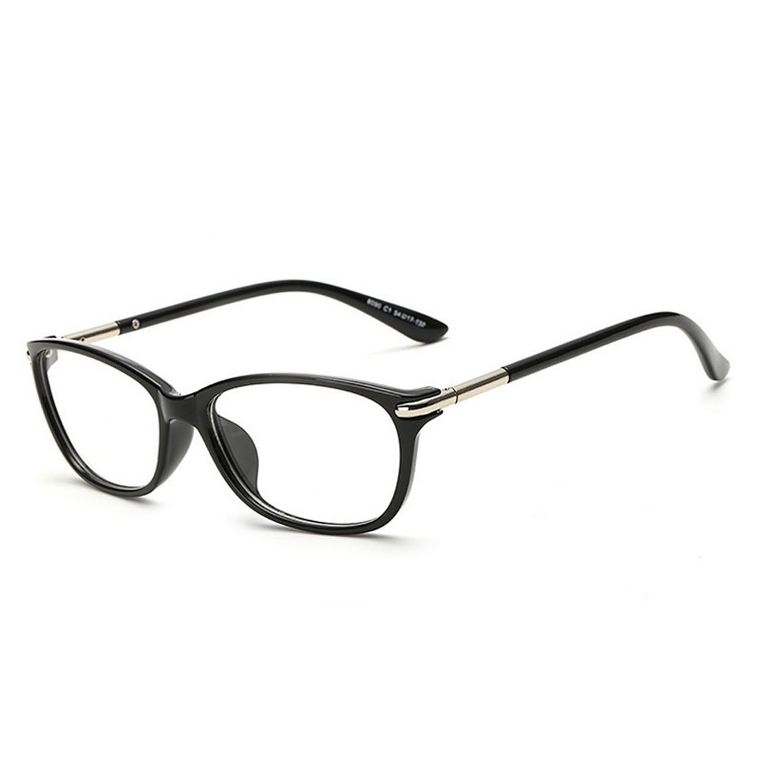 eb4ecb9450f0 King vintage horn rimmed cat eye eyeglasses frame glasses clear lens black  clothing jpg 1100x1100 Black