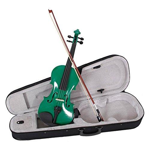 Lovinland 4/4 Acoustic Violin Green Beginner Violin Full Size with Case Bow Rosin by Lovinland (Image #6)