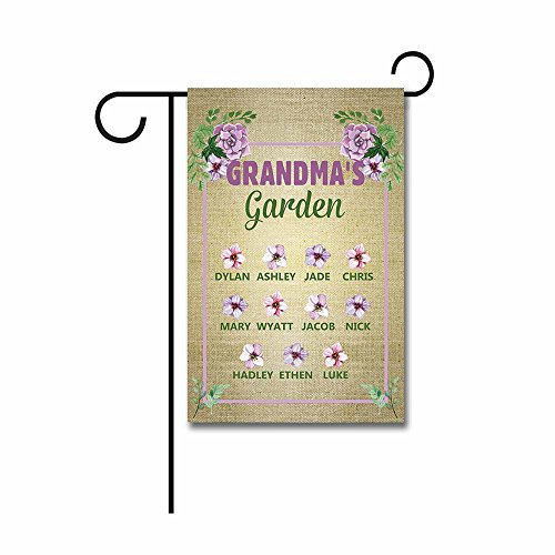 Kafepross Custom Grandma'S Garden Spring Garden Flag Flowers Small Banner for Outdoor 12.5