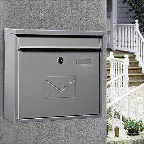 メールボックス ヘビーデューティ商業ホームオフィスや事業用のロックとストレージウォールマウントドロップボックスを確保し 家庭用またはビジネス用 (Color : Gray, Size : 36x10.5x32cm)
