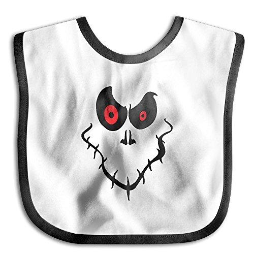 Baby Boys Girls Halloween Ghost Face Waterproof Bibs (Halloween Face Paint Ideas Ghost)