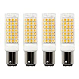Ba15d led Light Bulb Dimmable,Sewing Machine, Ceiling Fans,Drill Press Bulb, 7Watt Double Contact Bayonet Base Warm White 2700k 120Volt/C7/S6 LED 60W Halogen Replacement Bulb (4-Pack)