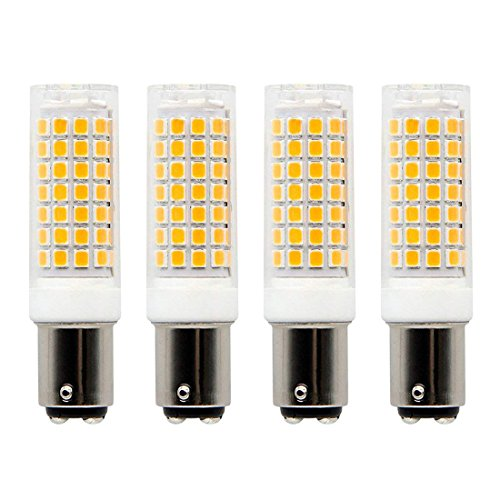 Ba15d led Light Bulb Dimmable,Sewing Machine, Ceiling Fans,Drill Press Bulb, 7Watt Double Contact Bayonet Base Warm White 2700k 120Volt/C7/S6 LED 60W Halogen Replacement Bulb (4-Pack) by Lacnooe