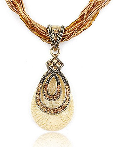 [Fashion Women's Bohemia Vintage National Style Cat's Eye Stone Peacock Chain Necklace] (Beauty And The Beast Costume Little Girl And Dog)