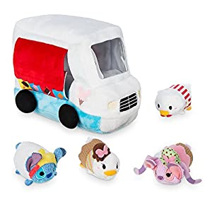 "Disney Donald Duck Ice Cream ""Tsum Tsum"" Plush Set Truck 5 Inch Plus 4 Minis 2 1/2 Inch"
