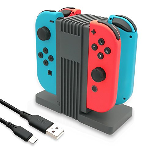 FastSnail Joy-Cons Charging Station, Joy-Cons Charging Dock for Switch with LED Indication