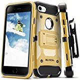 iPhone 7 / iPhone 6 Case, Evocel [Trio Pro Series] Textured Body, Multiple Layers, Kickstand for iPhone 7 / iPhone 6 & 6s, Gold Medal (EVO-IPH7-HH15)