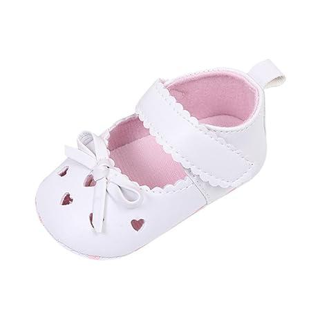 0-6 Meses//11, Blanco Zapatos de beb/é Xinan Reci/én beb/é ni/ñas Zapatos de Suela Blanda Antideslizante 0-18 Meses