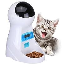 Dopet 自動給餌器 猫 中小型犬用 ペット自動餌やり機 タイマー式 ...