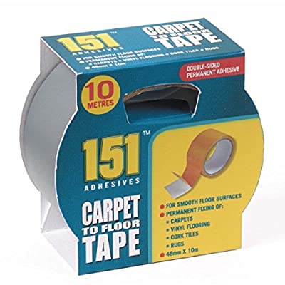 1 X Carpet to Floor Tape - Ten Metres long X 48mm Wide- Double Sided.For Permanent fixing of Carpets, Vinyl Flooring, Cork tiles, rugs and more!