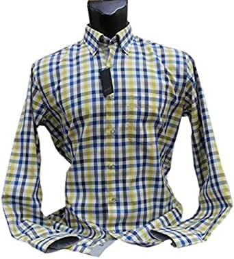 VanGils Yellow Shirt Neck Shirts For Men