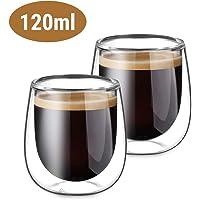 Glastal 2 Piezas Tazas de Cristal Café Espresso