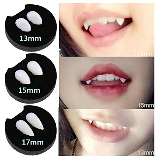 Happy Halloween, Mchoice Devil Tooth Fangs Caps Zombie Vampire Dentures Halloween Party Props (Funny Halloween Custumes)