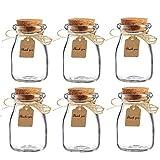 honey jar favors - Amajoy 16pcs Glass Favor Jar with Cork Lids,Escort Card and Twine Wedding Favor Party Favor Glass Bottles Honey Pot Bottles (100 ML,3.4OZ)