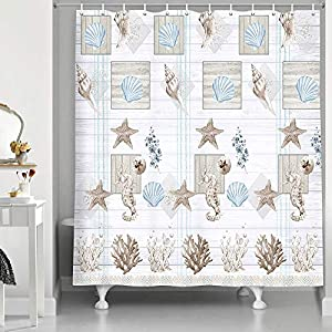 51ipHPhukWL._SS300_ Beach Shower Curtains & Nautical Shower Curtains