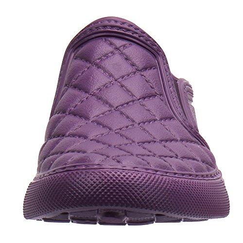Cooga Ultralight Imperméable Femmes Plat Slip-on Confortable Chaussure De Jardin De Marche Violet