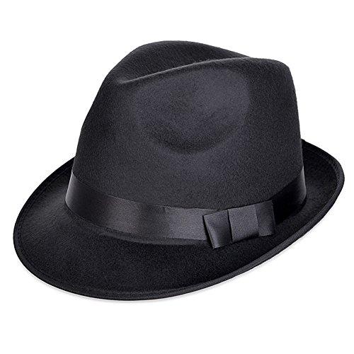 Vbiger Damen Fedora Schön Trilby Damen Hut Ideal als Weihnachten Geschenk