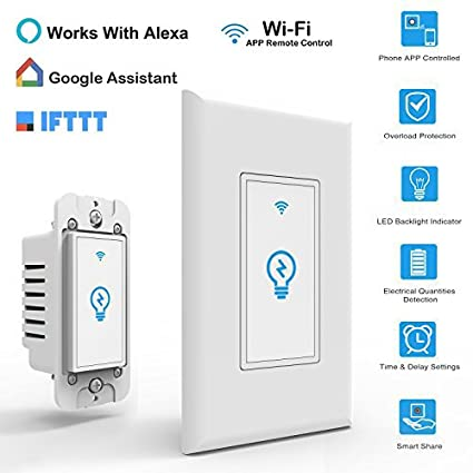 Smart switch works with alexa in wall light switch mobile phone app smart switch works with alexa in wall light switch mobile phone app remote alexa control sensitive aloadofball Choice Image