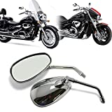 Motorcycle Chrome Rearview Side Mirrors for kawasaki Sizuki Chopper Scooter 10mm (Classic Type)