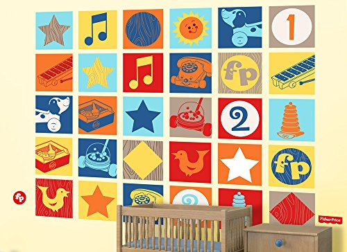 Fisher-Price Large Vintage Toy Wall Decal Set