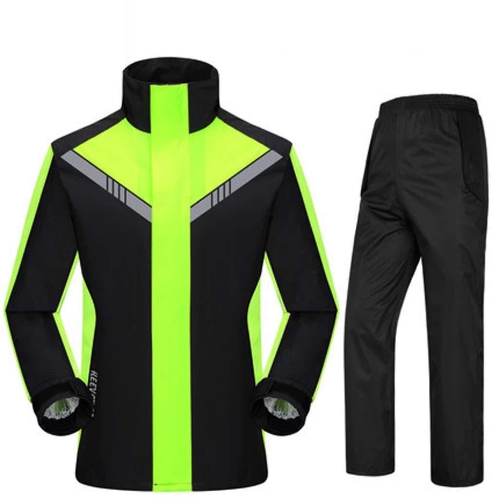 GX Regenmantel Außenmotorrad-Klage für Männer Regen-Hosen-Klage, AdultsWaterproof regendichter windundurchlässiger mit Kapuze aufgeteilter Regenmantel