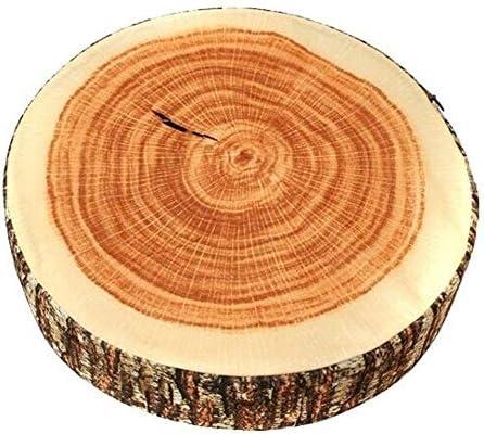 ラウンドクッション、装飾的なフルーツデザインのクッション、ソフトレザークッションクッション、クリエイティブ木製デザインのトランク木製クッションソフトチェアピロー,small B