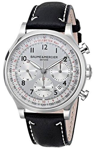 Baume-Mercier-Mens-10005-Capeland-Chronograph-Silver-Chronograph-Dial-Watch