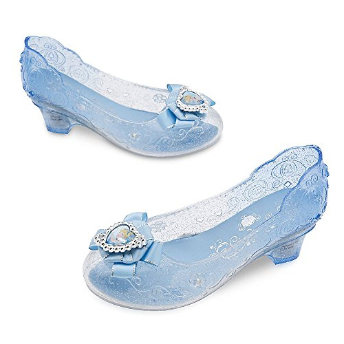 Glass Slipper Cinderella Costumes (Disney Cinderella Costume Shoes for Kids Size 7/8 TODLR Blue)