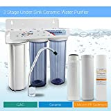 Max Water Three Stage 10'' Ceramic Water Filter, Home Drinking Sediment Purifier