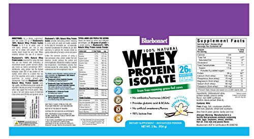 Buy bluebonnet nutrition 100 natural whey protein isolate powder