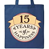 Inktastic 15 Years of Happiness Tote Bag Royal Blue