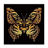Modern Art Tiger Face Butterfly Shaped Partial Drill DIY Resin Diamond Painting
