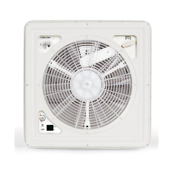 51ipJc65M1L Fiamma Turbo Vent Crystal Kurbeldachhaube Polar Control mit Thermostat 40 x 40 für Wohnwagen oder Wohnmobil