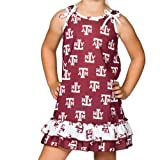 Texas A&M University Aggie Little Girls Tie Top Gown, Size 2T