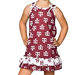 Texas A&M University Aggie Baby Girls Tie Top Gown, Size 18m