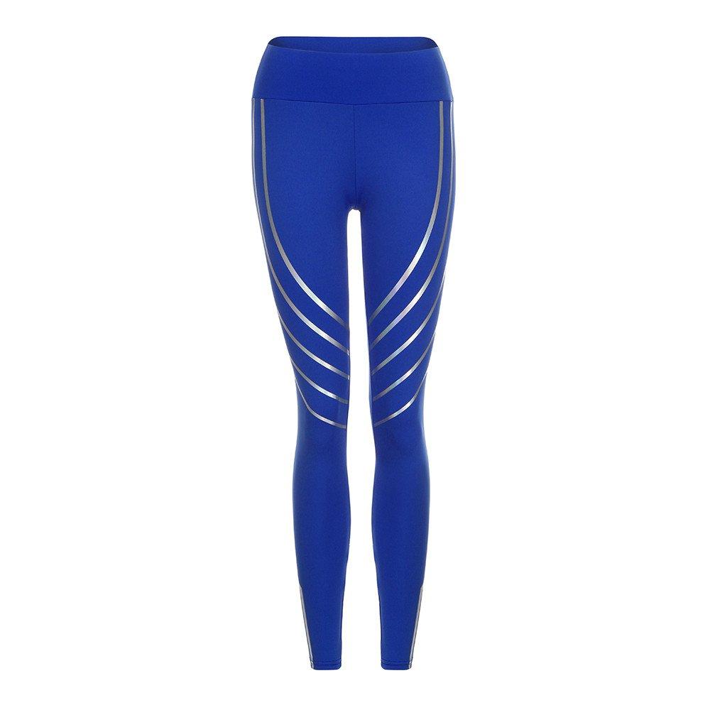 Women's Yoga Capri Pants Women Waist Yoga Fitness Leggings Running Gym Stretch Sports Pants Trousers (S, Black) CSSD