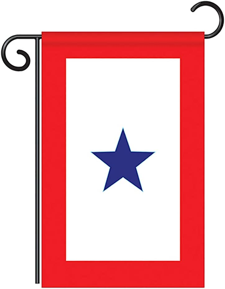 "Two Group G158042-P2 Blue Star Service Americana Military Decorative Vertical Garden Flag, 13""x 18.5"", Multi-Color"
