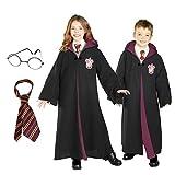 Harry Potter Costume Bundle Set - Child Medium Costume, Tie, and Glasses