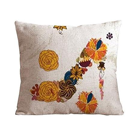 Home estilo Cotton Linen decorativo par manta funda de ...
