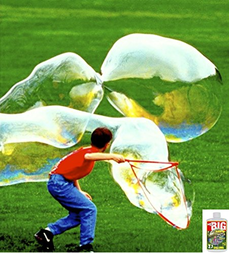 Bubble Thing BIG BUBBLES Wand Out-Bubbles Them All! Includes the World's Biggest-Bubbling, Least-Costly BIG Bubble Mix (Makes 2.7 gallons).