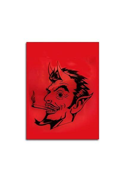 Near Dark 004248 Bolsas de plástico, gráfica Diablo, Rojo ...