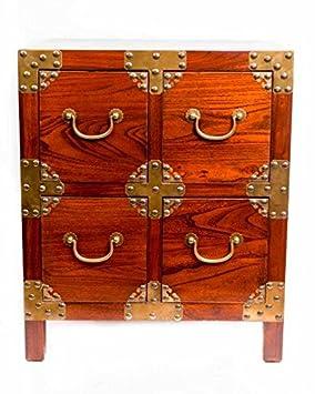 Table de chevet chinois meubles tiroir de petite table de chevet Armoire  Marron avec 4 tiroirs b437c79a433a
