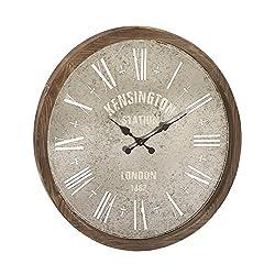 Deco 79 54748 Metal/Wood Wall Clock, 32