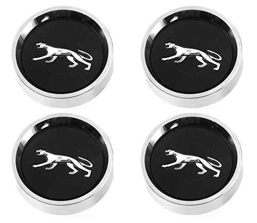 Mercury Cougar with Silver Cat Set of 4 1967 - 1977 Black ()