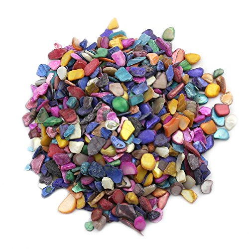 lieomo 600pcs/200g Bulk Mosaic Tile Assortment, Mixed Color Shells,Home Decoration DIY Arts & Craft (Non-Transparent)