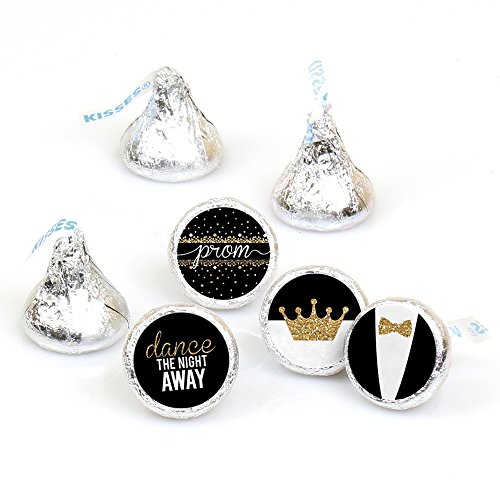 Prom - Round Candy Prom Night Sticker Favors - Party Decorations - Labels Fit Hershey's Kisses (1 Sheet of 108)]()