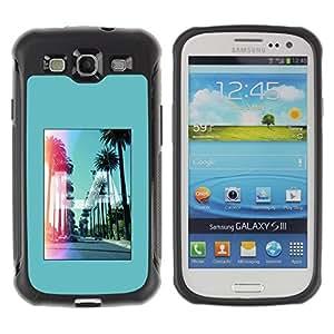 LASTONE PHONE CASE / Suave Silicona Caso Carcasa de Caucho Funda para Samsung Galaxy S3 I9300 / Los Angeles California Hollywood