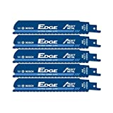 Bosch RESM6X2 (5 Pack) 6-inch 8/10 TPI Edge Recip Saw Blade for Heavy Metal # RESM6X2B-5pk