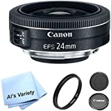 Canon EF-S 24mm f/2.8 STM Lens Bundle- International Model